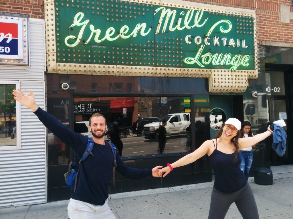 """""""Team"""" """"Adolfo"""" went to the Green Mill, described as """"supposedly a preeminent jazz bar, which I'm sure it is, but when you go at 2 PM it just seems like a seedy dive bar that sells the most Mallort worldwide."""""""